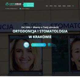 Strona gabinetu stomatologicznego OrtoKrak