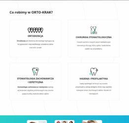 Widok oferty gabinetu stomatologicznego na stronie OrtoKrak.pl