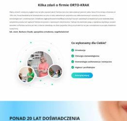 Kilka zdań o firmie OrtoKrak na stronie ortokrak.pl