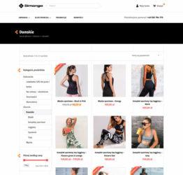 Widok kategorii sklepu internetowego simongo.pl