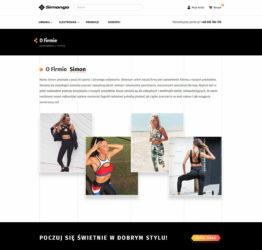Podstrona o firmie sklepu internetowego simongo.pl
