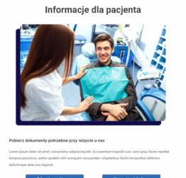 Informacje dla pacjenta strony stomatologia-gsr.pl