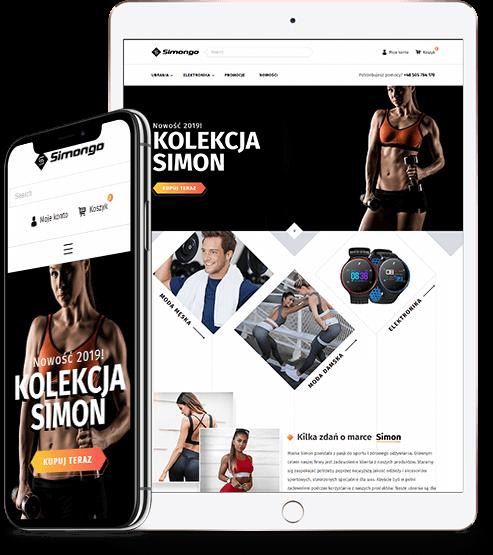 Sklep internetowy simongo.pl na tablecie i telefonie