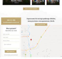 Widok kontaktu i lokalizacji na stronie aquila-przyjecia.pl