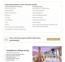Menu dań na stronie aquila-przyjecia.pl