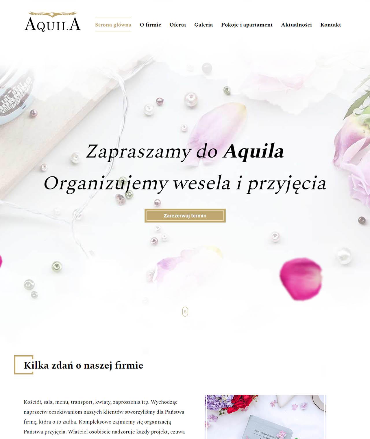 Strona aquila-przyjecia.pl